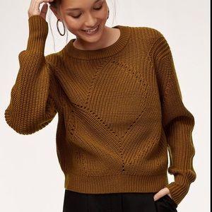 🌸 Wilfred (Aritzia) Serment Sweater in Tamarind